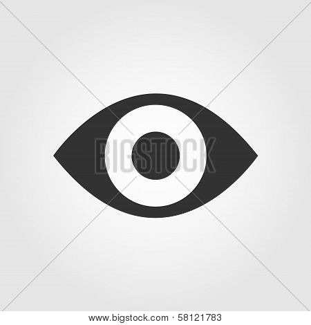 Eye icon, flat design