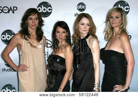 Frances O'Connor and Lucy Liu with Miranda Otto and Bonnie Somerville at the 2007 ABC All Star Party. Beverly Hilton Hotel, Beverly Hills, CA. 07-26-07