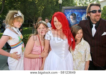 Jane Goldman and family at the Los Angeles Premiere of