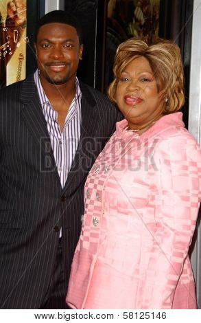 Chris Tucker and his mother at the Los Angeles Premiere of