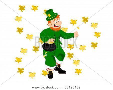 leprechaun coin hole gold clover