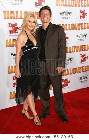 Elle Travis and Joshua Feinman at the Los Angeles Premiere of