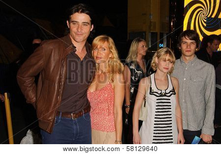 Goran Visnjic and wife Ivana with Emilie de Ravin and friend at the Los Angeles Opening Cirque Du Soleil's