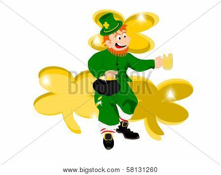 leprechaun beer gold three clover