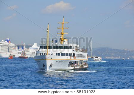 Cruise ferry in Eminonu Port
