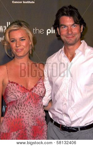 Rebecca Romijn and Jerry O'Connell at the 3rd Annual Pink Party benefiting Cedars-Sinai Women's Cancer Research Institute. Viceroy Hotel, Santa Monica, CA. 09-08-07