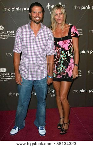 Joshua Morrow and wife Tobe at the 3rd Annual Pink Party benefiting Cedars-Sinai Women's Cancer Research Institute. Viceroy Hotel, Santa Monica, CA. 09-08-07