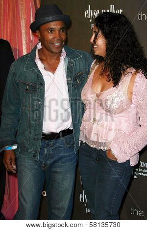 Sugar Ray Leonard and wife Bernadette  at the 3rd Annual Pink Party benefiting Cedars-Sinai Women's Cancer Research Institute. Viceroy Hotel, Santa Monica, CA. 09-08-07