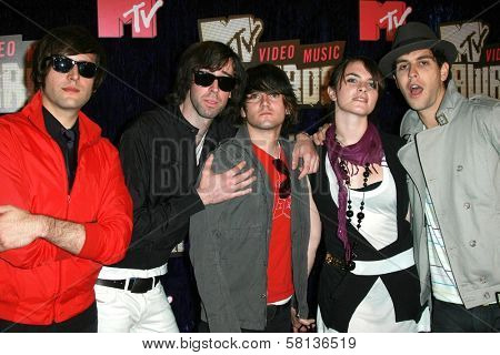 Cobra Starship arriving at the 2007 MTV Video Music Awards. The Palms Hotel And Casino, Las Vegas, NV. 09-09-07