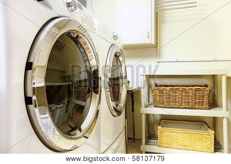 Laundry Room With Modern Appliaces