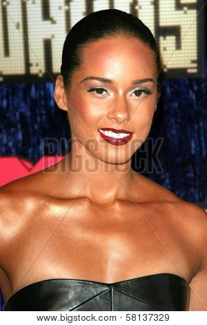 Alicia Keys arriving at the 2007 MTV Video Music Awards. The Palms Hotel And Casino, Las Vegas, NV. 09-09-07