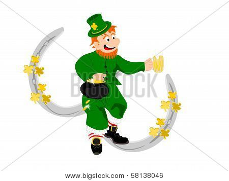 leprechaun beer silver horseshoes