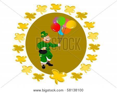 leprechaun balloons circle clover