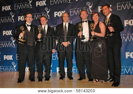 Jon Stewart in the press room at the 59th Annual Primetime Emmy Awards. The Shrine Auditorium, Los Angeles, CA. 09-16-07