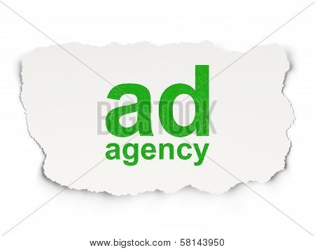 Advertising concept: Ad Agency on Paper background