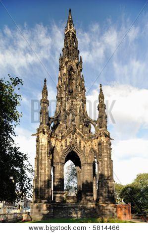 Scott Monument, Edinburgh, Scotland, Uk