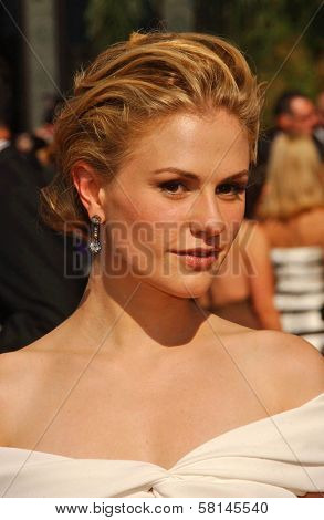 Anna Paquin  arriving at the 59th Annual Primetime Emmy Awards. The Shrine Auditorium, Los Angeles, CA. 09-16-07