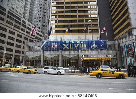 Sheraton New York welcomes visitors during Super Bowl XLVIII week in Manhattan