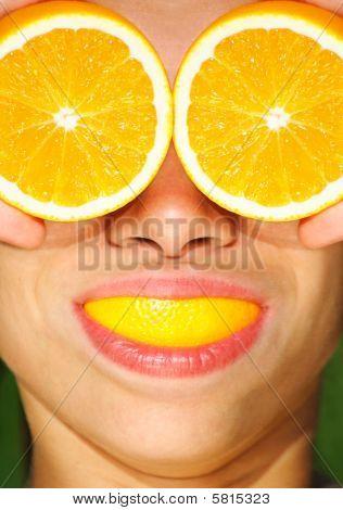 Funny Health And Orange Concept