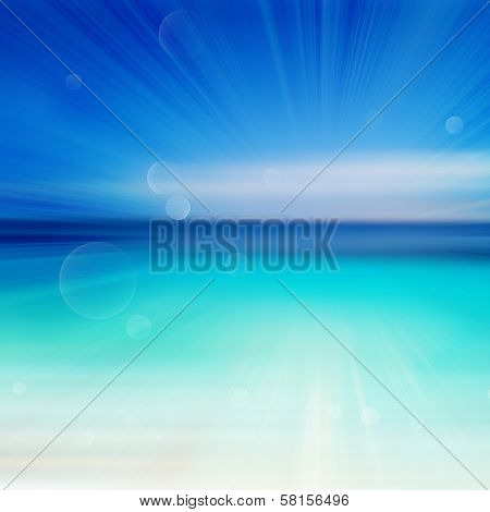 Abstract Seashore Illustration With Defocused Lights