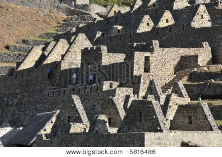 Detail of ruins of Macchu Pichu, Peru, South America