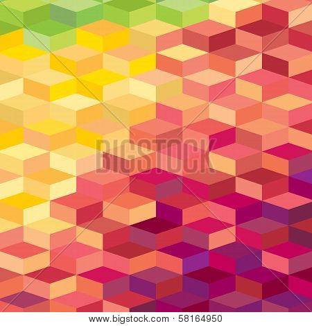 Colourful rhombic background. For prints, web, textile