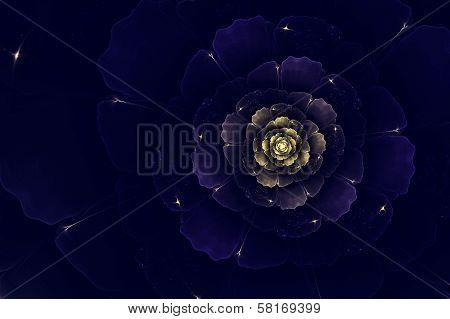 Blue Fractal Dahlia