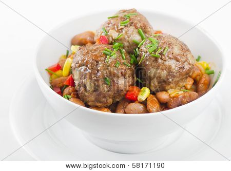 Mexican Meatballs With Haricot