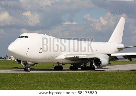 White cargo plane