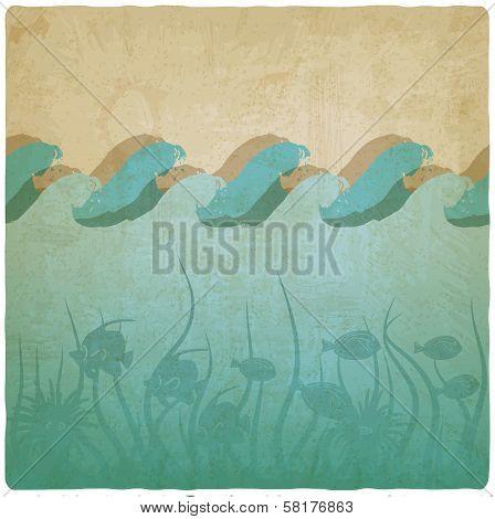 Vintage underwater background