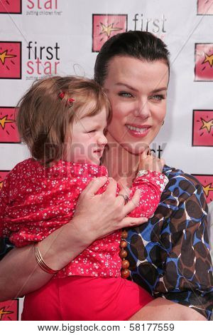 Debi Mazar and daughter at the 4th Annual First Star Celebration for Children's Rights, Barker Hanger, Santa Monica, CA 06-02-07