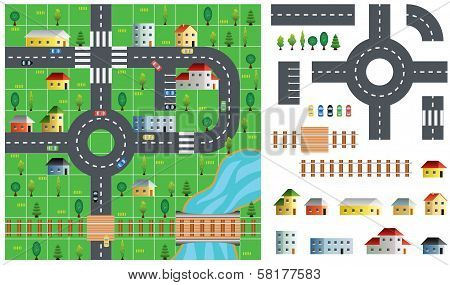 City Map Toolkit Vector Illustration