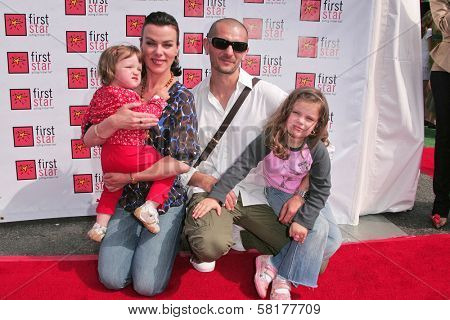 Debi Mazar and family at the 4th Annual First Star Celebration for Children's Rights, Barker Hanger, Santa Monica, CA 06-02-07