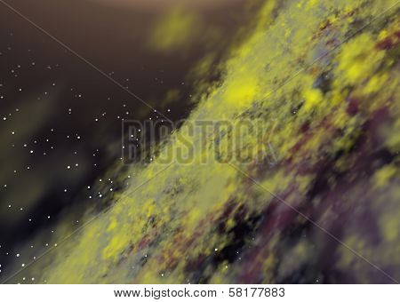 Abstract Toxic Galaxy Background