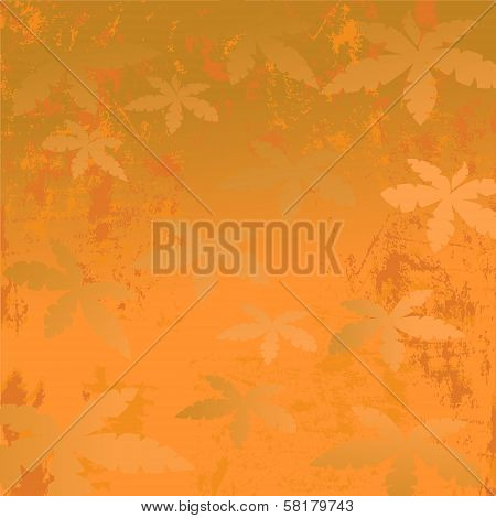 Africa. sand orange background with palm trees