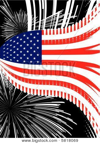 Flagge der Vereinigten Staaten-Vektor