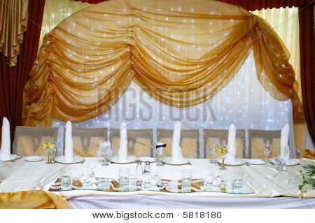 Decorated Table Appointments For Wedding