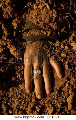 A Hand Woman Buried After His Assassination