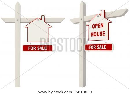 Real Estate Signpost -open House