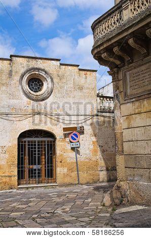 Church of St. Maria del Tempio. Tricase. Puglia. Italy.