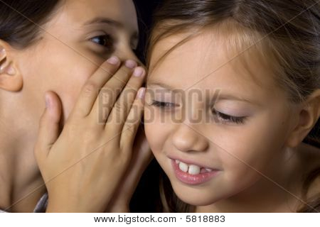 Two Young Girls In Gossip