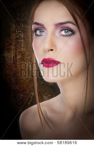 Professional make up - beautiful female portrait