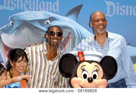 Kobe Bryant and family with Kareem Abdul Jabbar at the Opening of Disneyland's