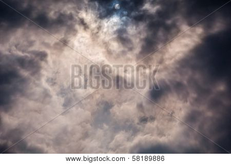 Light Rays Shine Through Dark Clouds