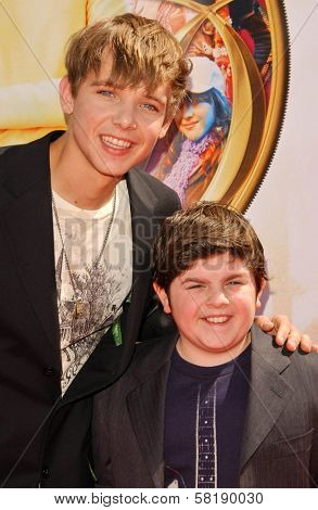 Max Thieriot and Josh Flitter at the World Premiere of