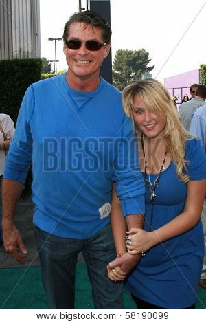 David Hasselhoff and Hayley Hasselhoff at the world premiere of