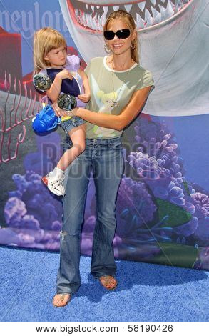 Denise Richards and daughter Lola at the Opening of Disneyland's