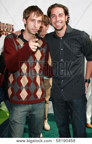 Joel Moore and Zachary Levi at the world premiere of