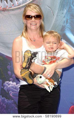 Melissa Joan Hart and son Mason at the Opening of Disneyland's