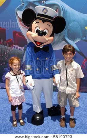 Anthony De Marco and his sister at the Opening of Disneyland's